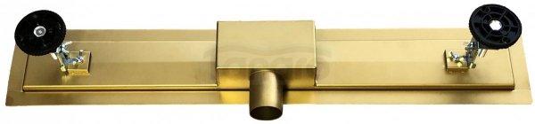 BW-TECH - Odpływ liniowy posadzkowy złoty/gold 2w1 pod płytkę Rozmiary 60cm-90cm