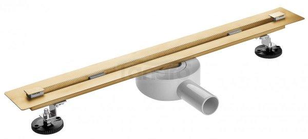 AQUALine Odpływ liniowy podłogowy złoty/gold SUPER SLIM INVISIBLE 80cm RSP01GL NOWOŚĆ