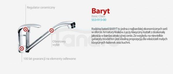 ARMATURA KRAKÓW - BARYT bateria zlewozmywakowa ścienna 550-910-00