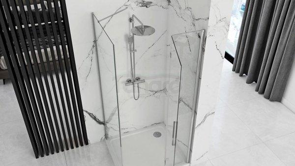 REA Kabina prysznicowa drzwi składane MOLIER CHROM 80x90