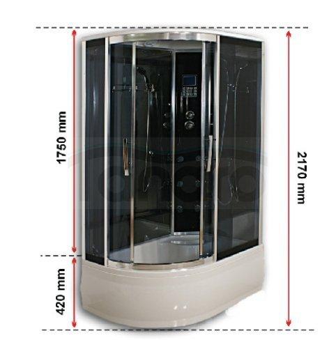 Durasan Kabina Prysznicowa Z Hydromasażem Asymetryczna Rio Lux Ws