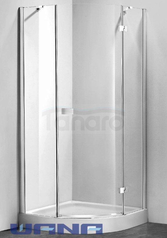 WANA - Kabina prysznicowa półokrągła drzwi pojedyncze otwierane SILENA Easy Clean linia PERFECT