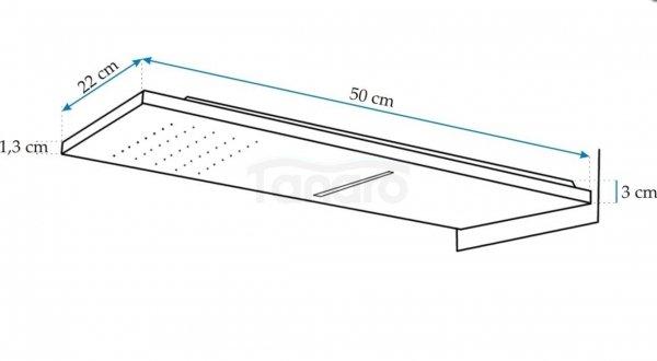 REA -Zestaw natryskowy SLIM podtynkowy  BATERIA + DESZCZOWNICA podtynkowa RAINFORCE SLIM