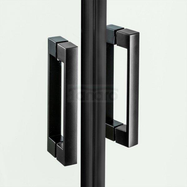 NEW TRENDY - Kabina prostokątna New Renoma BLACK 120x100x195  D-0207A/D-0112B  LEWA