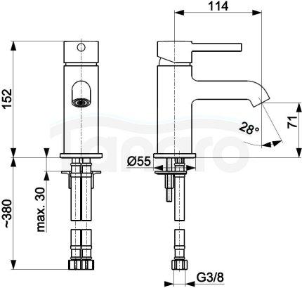 ARMATURA KRAKÓW KFA Bateria umywalkowa z korkiem klik-klak MOZA CHROM 5032-815-00