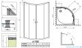 Radaway Classic A Kabina prysznicowa półokrągła z drzwiami przesuwnymi 80x80x170 szkło przejrzyste 30011-01-01