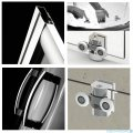 Radaway Premium Plus E Kabina półokrągła 100x80cm szkło przejrzyste + brodzik Laros E prawy + syfon