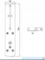Tres Lex-B Panel natryskowy z termostatem 1.93.223