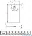 Radaway Kyntos F brodzik 100x80cm biały HKF10080-04