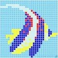 Dunin Q design mozaika szklana wzór 65X65 fish 2