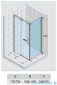 Riho Ocean kabina prostokątna prawa 140x80cm GU0204100/GU0300101