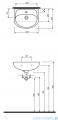 Koło Solo Umywalka meblowa 40cm z otworem 72942000