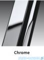 Novellini Drzwi do wnęki z elementem stałym GIADA G+F 120 cm prawe szkło przejrzyste profil chrom GIADNGF120D-1K