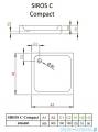 Radaway Brodzik kwadratowy Siros C 80x80 Compact na podstawie styropianowej ze zintegrowaną obudową SBC8817-2