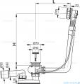 Alcaplast  syfon wannowy automatyczny chrom A550K-100