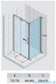 Riho Ocean kabina prostokątna prawa 100x80cm GU0200100/GU0300101