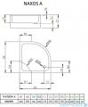 Radaway Brodzik półokragły Naxos A na podstawie styropianowej 90x90 cm SBA9941-1