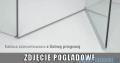 Radaway Eos DWB Drzwi wnękowe 80 prawe szkło przejrzyste z progiem