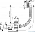 Alcaplast  syfon wannowy klik-klak chrom A504KM