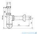 Półsyfon Sanit umywalkowy FI32 609/1 31004000004