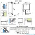 Radaway Euphoria KDJ Kabina prysznicowa 100x90 lewa szkło przejrzyste 383612-01L/383240-01L/383050-01