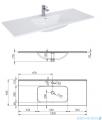 Elita Futuris szafka z umywalką 120x37x45cm anthracite 167239/145865