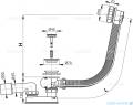 Alcaplast  syfon wannowy automatyczny chrom A55KM-80