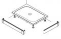 SanSwiss PWIL Obudowa do brodzika 2-stronna 80x100cm biała PWIL08010004