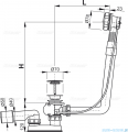 Alcaplast  syfon wannowy automatyczny chrom A550KM-80