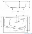 Koło Split wanna asymetryczna lewa 160x90cm XWA1661