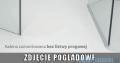 Radaway Euphoria KDJ P Kabina przyścienna 100x100x100 lewa szkło przejrzyste 383612-01L/383240-01L/383032-01/383036-01