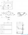 Cersanit Moduo szafka wisząca z umywalką 50x40x62 cm biała S801-230