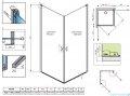 Radaway Nes KDD I kabina 100cm część lewa przejrzyste 10021100-01-01L