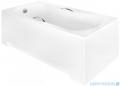 Besco Aria Plus 140x70cm wanna prostokątna z uchwytami + obudowa + syfon