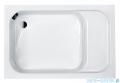 Sanplast Classic brodzik prostokątny 100x80x28cm z siedziskiem+stelaż 615-010-0520-01-000