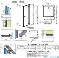 Radaway Euphoria KDJ Kabina prysznicowa 100x100 prawa szkło przejrzyste + brodzik Delos C + syfon 383612-01R/383240-01R/383052-01/SDC1010-01
