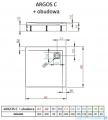 Radaway Brodzik kwadratowy Argos C 90x90x14,5 cm + nogi 4ACN99-02
