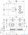 Omnires Y bateria natryskowa podtynkowa 3-wyjściowa GoClick chrom Y1237GCCR