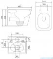 Omnires Fontana podtynkowy zestaw WC z miską + deską wolnoopadającą + przycisk czarny FONTANASETBPBL