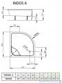 Radaway Indos A Brodzik półokrągły 90x90x41cm SIA9090-01