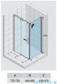 Riho Ocean kabina prostokątna lewa 100x80cm GU0200100/GU0300102