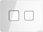 Cersanit Accento Square przycisk spłukujący pneumatyczny 2-funkcyjny szkło białe S97-054