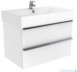 New Trendy Kubiko szafka wisząca podumywalkowa 100 cm biały połysk ML-9010