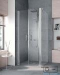 Kermi Pega Ściana boczna, szkło przezroczyste, profile srebrne 75x200cm PETWD07520VPK