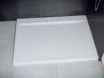 Besco Axim ultraslim 120x80cm brodzik prostokątny Stone Effect biały BAX-120-80-P-SEB