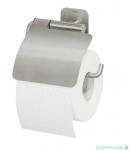 Tiger Colar Uchwyt na papier toaletowy z klapką stal szczotkowana 13141.3.09.46