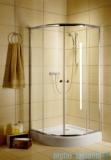 Radaway Classic A Kabina prysznicowa półokrągła z drzwiami przesuwnymi 90x90x185 szkło grafitowe 30000-01-05
