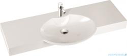 Marmorin umywalka nablatowa Carme 130, 130 cm z otworem biała 260 130 020 011