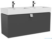 Oristo Bold szafka z umywalką 120x50x45 grafit połysk OR46-SD1S-120-5-SW/UME-BD-120-91-D