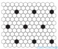 Dunin Mini Hexagon B&W Spot płytka ścienna 26x30cm